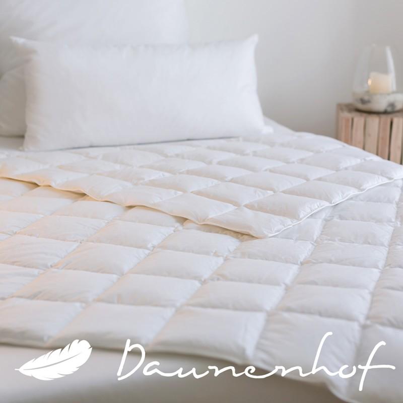 sommer daunendecke exquisit w rmeklasse 1 bettdecken daunenhof. Black Bedroom Furniture Sets. Home Design Ideas